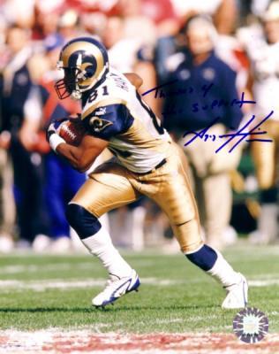 Az-Zahir Hakim autographed St. Louis Rams 8x10 photo