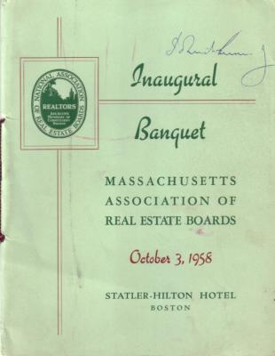 John F. Kennedy (JFK) autographed 1958 banquet program