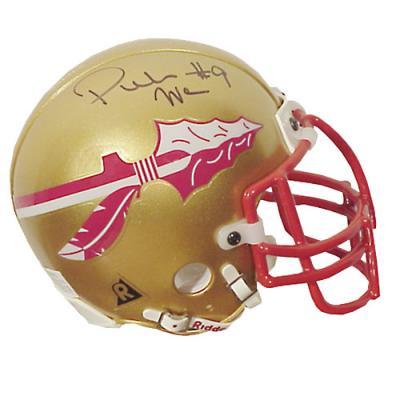 Peter Warrick autographed Florida State Seminoles mini helmet