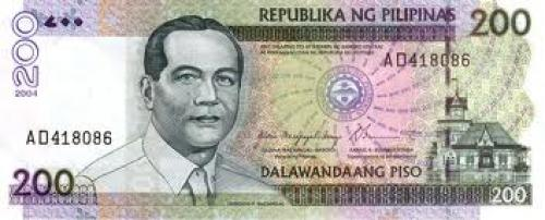 Philippine Currency - Banknotes; 200 Pesos