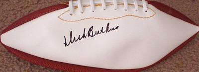 Dick Butkus autographed full size white panel football