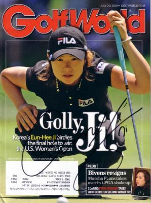 Eun-Hee Ji autographed 2009 U.S. Women's Open Golf Week magazine
