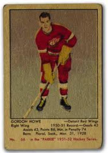 1951-52 Parkhurst Gordie Howe Rookie Card Detroit