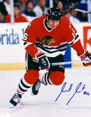 Michel Goulet autographed 8x10 Chicago Blackhawks photo