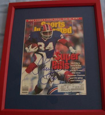 Thurman Thomas autographed Bills 1992 Sports Illustrated cover matted & framed