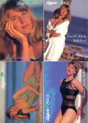 Steffi Graf 1993 Portfolio Swimsuit insert card set (4)
