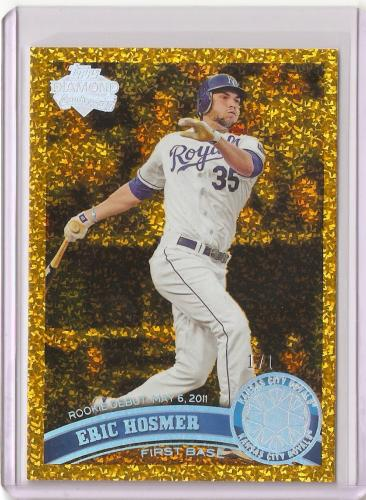 2011 Topps Update #US188 ERIC HOSMER 1/1 CANARY DIAMOND 