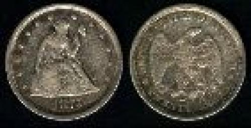 20 cents; Year: 1875-1878; Liberty. Seated