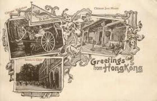 Wonderful Art Nouveau postcard from Hong Kong