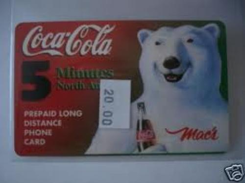 Coke Macs milk rare issued phone card(only in canada)