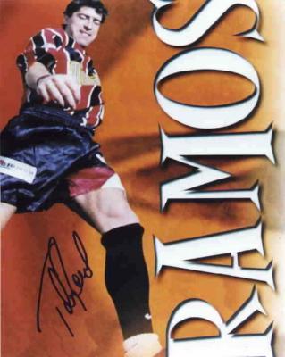 Tab Ramos autographed MLS Metrostars 8x10 soccer photo