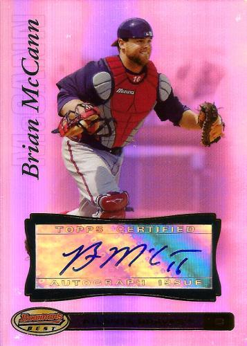 2007 Bowman's Best #33b ~ Brian McCann AU