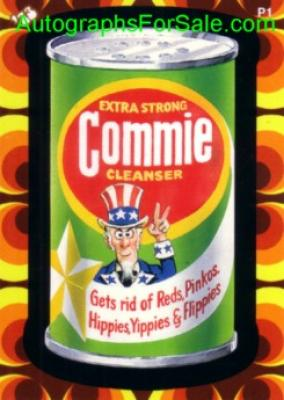 Wacky Packages 2008 promo card P1 (Commie Cleanser)