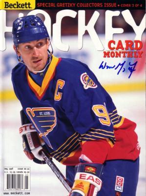 Wayne Gretzky autographed St. Louis Blues 1998 Beckett Hockey magazine