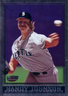 Randy Johnson 1998 Topps Chrome jumbo card