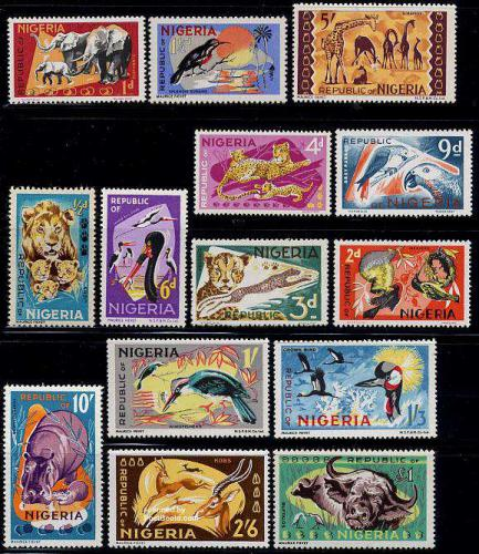 Definitives, animals 14v; Year: 1965