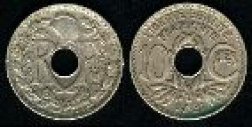 10 centimes; Year: 1917-1938; (km 866a)