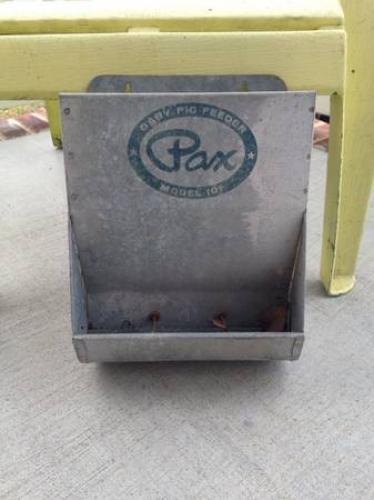 Vintage Galvanized Baby Pig Feeder
