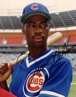 Jerome Walton autographed 8x10 Chicago Cubs photo
