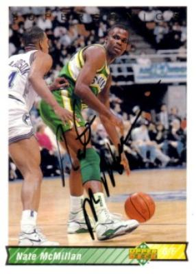 Nate McMillan autographed Seattle Supersonics 1992-93 Upper Deck card