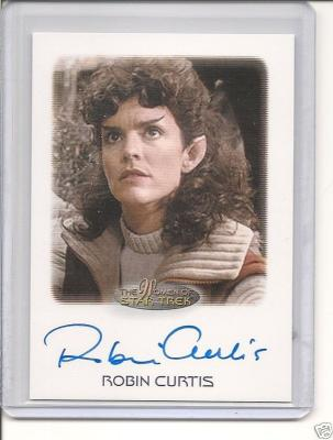 Robin Curtis Star Trek certified autograph card