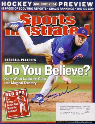 Kerry Wood autographed Chicago Cubs 2003 Sports Illustrated