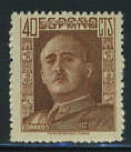 General Franco 1v; Year Issue: 1942; Spain Stamps