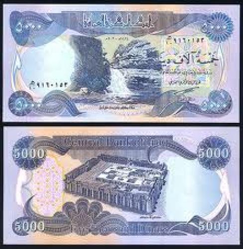 Banknotes; Iraq 5000 Dinars