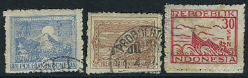 Java, definitives 3v; Year: 1946