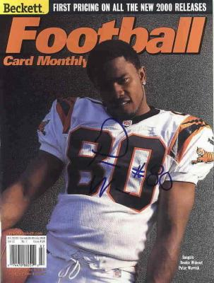 Peter Warrick autographed Cincinnati Bengals Beckett Football magazine