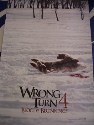 Wrong Turn 4 mini movie 2011 Comic-Con promo poster MINT