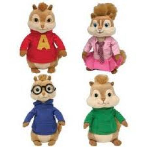 Ty Beanie Babies - Alvin & the Chipmunks Movie