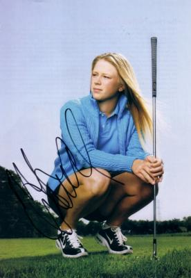 Morgan Pressel autographed golf magazine full page photo