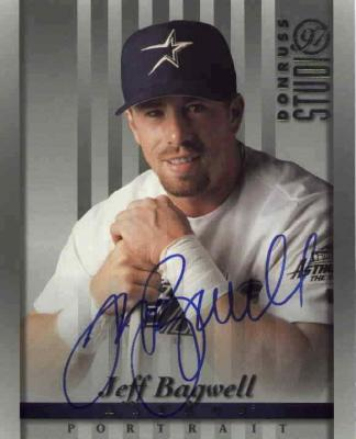 Jeff Bagwell autographed Houston Astros 8x10 1997 Studio photo card