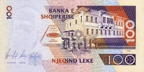 Banknotes; Albania 100 Leke-1996