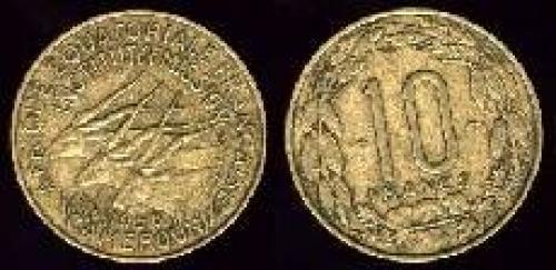 10 francs 1958 (km 25)