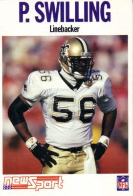 Pat Swilling 1992 NewSport 4x6 card