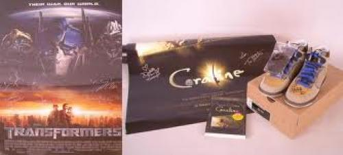 Memorabilia; Legitimate signed movie memorabilia from Transformers