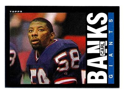Carl Banks Giants 1985 Topps Rookie Card #111