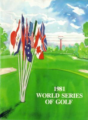 1981 World Series of Golf program and pairings guide (Tom Watson)