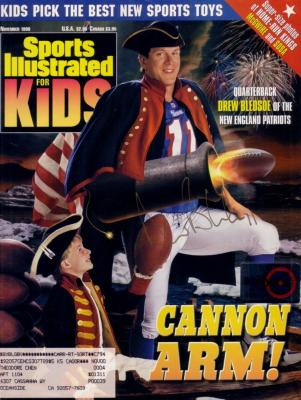 Drew Bledsoe autographed New England Patriots Sports Illustrated for Kids magazine cover