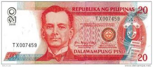 Banknotes; 20 Pesos; Philippine Banknotes