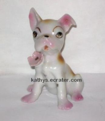 Vintage Japan Boxer Bulldog Puppy Dog Animal Figurine