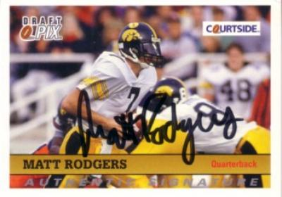 Matt Rodgers Iowa certified autograph 1992 Courtside card