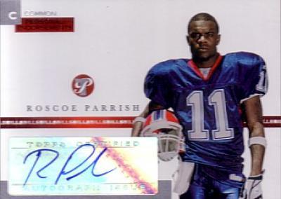 Roscoe Parrish certified autograph Buffalo Bills 2005 Topps card