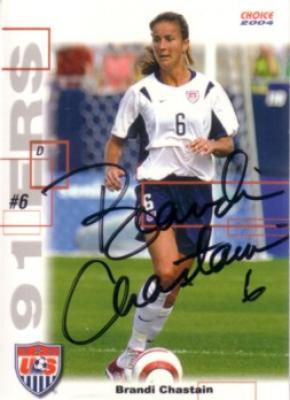 Brandi Chastain autographed 2004 U.S. Soccer card