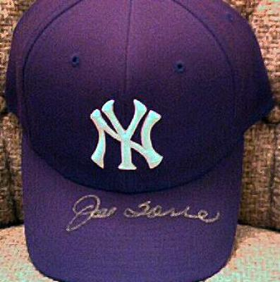 Joe Torre autographed New York Yankees cap