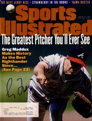 Greg Maddux autographed Atlanta Braves 1995 Sports Illustrated