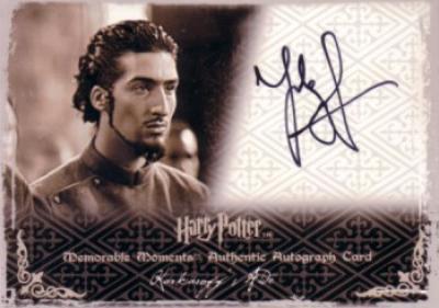 Tolga Safer Harry Potter certified autograph Karkaroff's Aide card