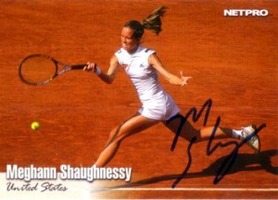 Meghann Shaughnessy autographed 2003 NetPro tennis card